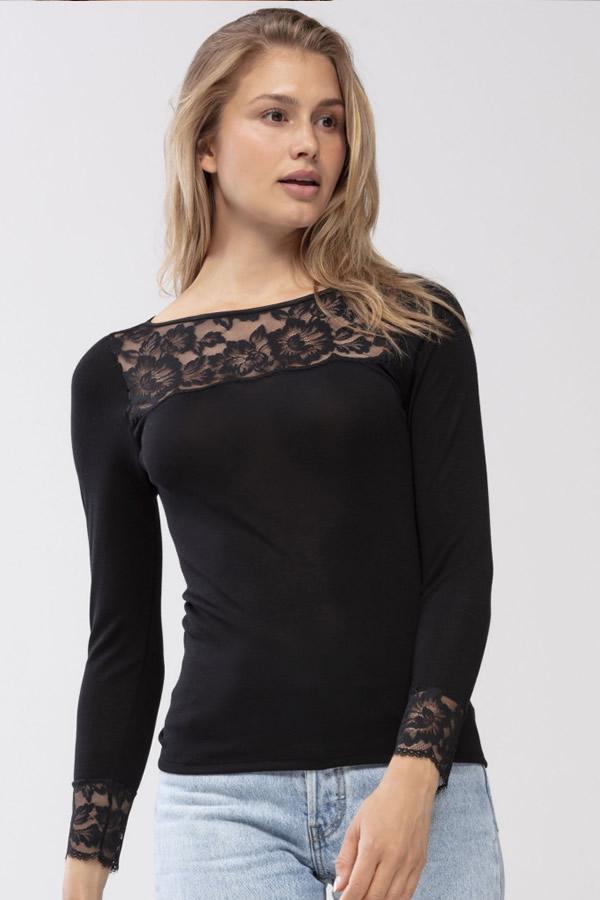 mey 2020 lingerie zwart shirt